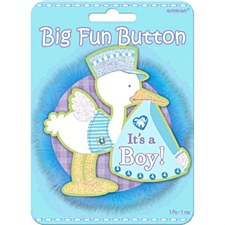 It's A Boy Big Fun Button