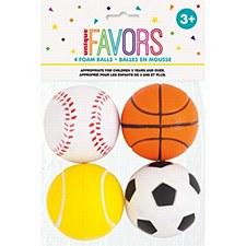 4 Foam Sport Balls