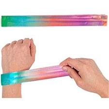 4 Metallic Slap Bracelets