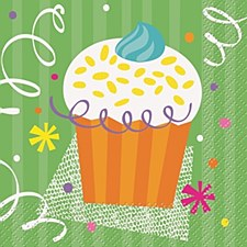 Cupcake Party Beverage Napkins 16ct