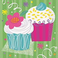 Cupcake Party Luncheon Napkins 16ct