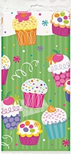 Cupcake Party Platic Table Cover