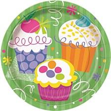 "Cupcake Party 7"" Dessert Plates 8ct"