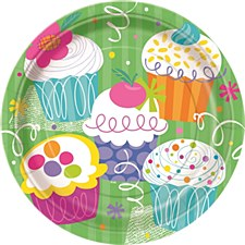 "Cupcake Party 9"" Lunch Plates 8ct"