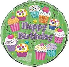 "Cupcake Party 18"" Foil Balloon Bulk"
