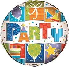 "Party Style 18""  Foil Balloon Bulk"