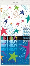 Cosmic Birthday Plastic Tablecover