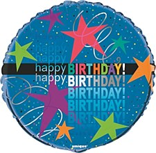 "Cosmic Birthday 18"" Foil Balloon Bulk"