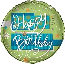 "Bright Birthday 18"" Foil Balloon Bulk"