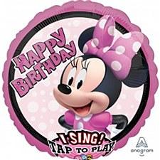 Minnie Happy Birthday Singing Balloon