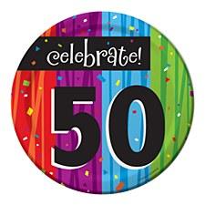 "Milestone Celebrations ""50"" Dessert Plates, 8ct"