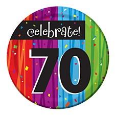 "Milestone Celebrations ""70"" Dessert Plates, 8ct"