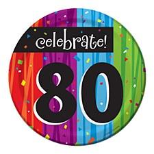 "Milestone Celebrations ""80"" Dessert Plates, 8ct"