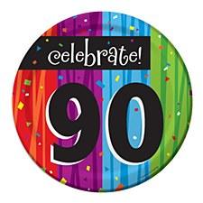 "Milestone Celebrations ""90"" Dessert Plates, 8ct"