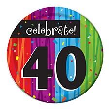 "Milestone Celebrations ""40"" Dessert Plates, 8ct"