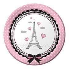 """Party in Paris 7"""" Dessert Plates, 8ct"""
