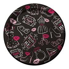 "Bridal Bash 7"" Dessert Plates, 8ct"