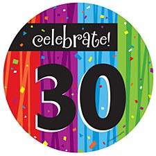 "Milestone Celebrations ""30"" Dessert Plates, 8ct"