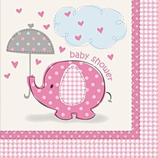 Umbrellaphants Pink Luncheon Napkins 16ct