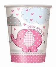 Umbrellaphants Pink 9 oz. Cups 8ct