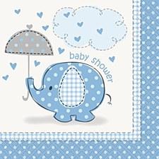 Umbrellaphants Blue Beverage Napkins 16ct