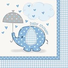 Umbrellaphants Blue Luncheon Napkins 16ct