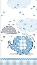 "Umbrellaphants Blue Plastic Table Cover 54"" x 84"""