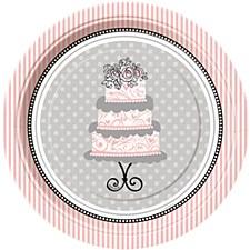 "Elegant Wedding 7"" Dessert Plates 8ct"