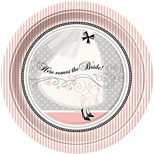 "Elegant Wedding 9"" Lunch Plates 8ct"