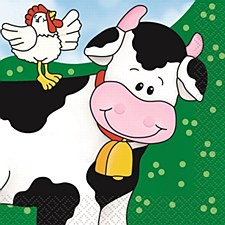 Farm Friends Bev Napkins