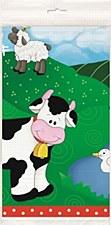 "Farm Friends Plastic Table Cover 54"" x 84"""