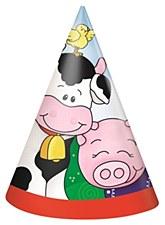Farm Friends Party Hats