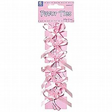 BABY SHOWER FAVOR TIES-PINK