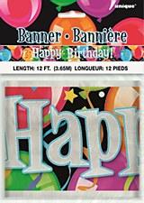 Bravo Birthday Foil Banner 12 Ft.