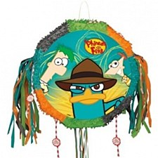 Phineas & Ferb Drum Pull Pop-Out Piñata