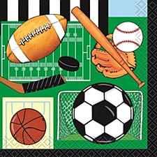 Classic Sports Beverage Napkins 16ct