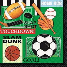 Classic Sports Luncheon Napkins 16ct