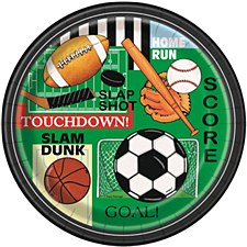 """Classic Sports 9"""" Lunch Plates 8ct"""