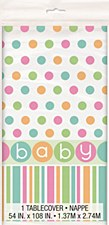 "Pastel Baby Shower Plastic Table Cover 54"" x 84"""