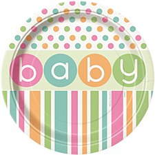 "Pastel Baby Shower 9"" Lunch Plates 8ct"