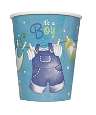 Blue Clothesline Baby Shower 9 oz. Cups 8ct