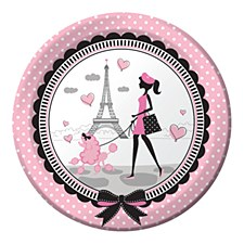 """Party in Paris 9"""" Lunch Plates, 8ct"""