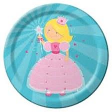 "9""Fairytale Princess Plates"