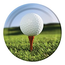 Sports Fanatic Golf Dinner Plates 9''-8ct