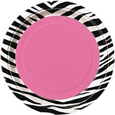 "Zebra Passion 7"" Dessert Plates 8ct"