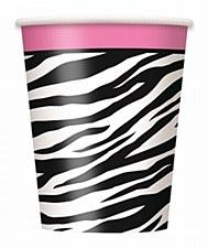 Zebra Passion 9 oz. Cups, 8ct