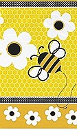 "Busy Bees Plastic Table Cover 54"" x 84"""