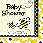 "Busy Bees Luncheon Napkins ""Baby Shower"" 16ct"