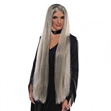 36in Grey Long Witch Wig