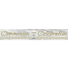 Communion Celebration Foil Banner